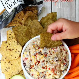 Skinny Mexican Cottage Cheese Dip.