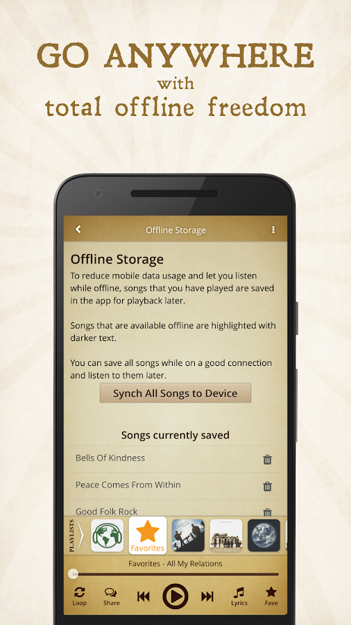 Solaris Music App — uplifting indie-folk music- screenshot