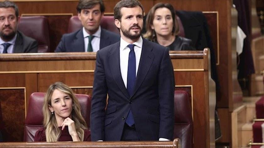 Pablo Casado ha atizado duramente a Sánches en su intervención.