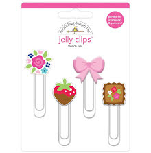 Doodlebug Jelly Clips 4/Pkg - French Kiss