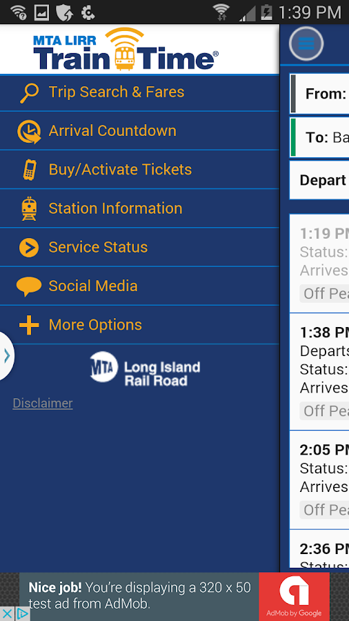 LIRR TrainTime- screenshot