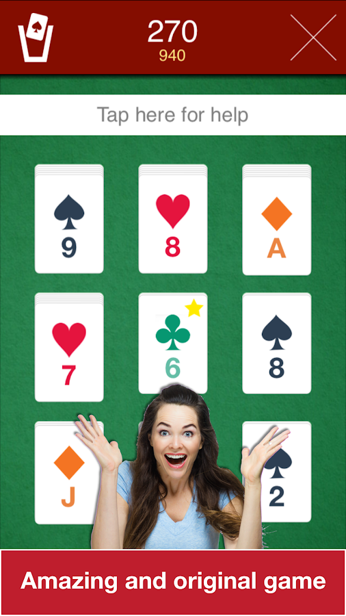 Poker Solitaire: the card game- screenshot
