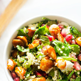 Pomegranate Quinoa Salad with Candied Almonds