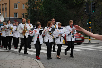 Photo: The marching band. Photo:Patric Fransson