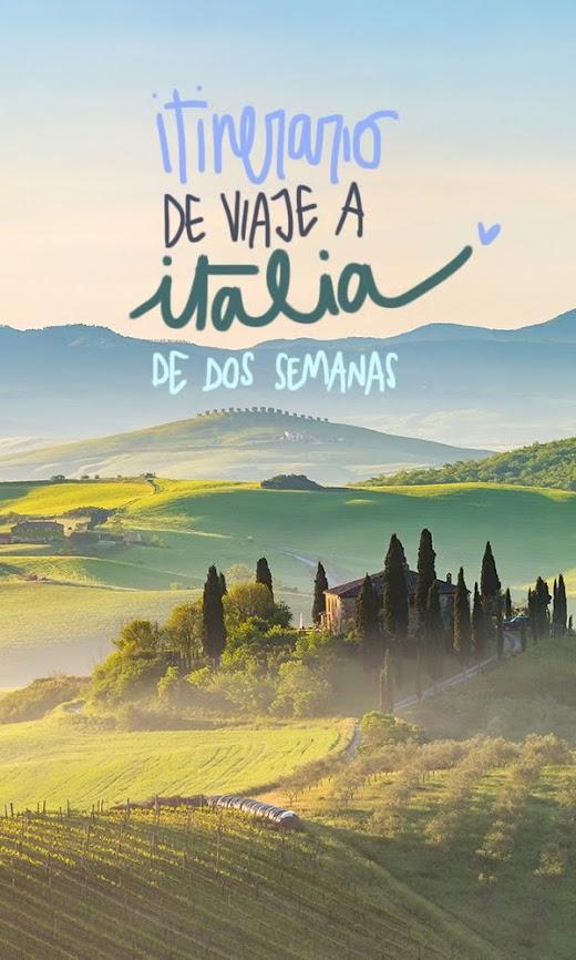 itinerario viaje Italia