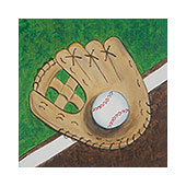 canvas painting design - Let's Play Ball