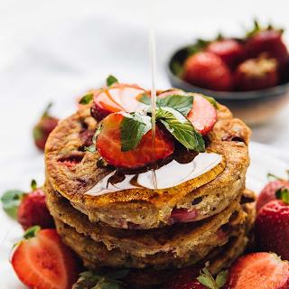 Fluffy Vegan Strawberry Pancakes (Gluten Free) Recipe