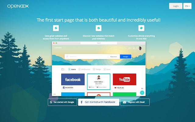 Beautiful & Customizable New Tab Page Openoox