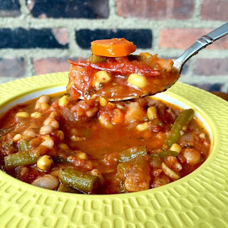 Hearty Vegetable Soup with Roasted Tomatoes Recipe