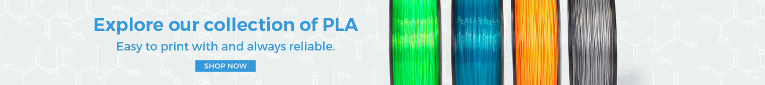 PLA 3D Printer Filament: Explore our collection of PLA. Easy to print with and always reliable.