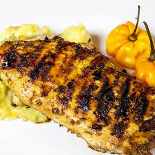 Jamaican Jerk Chicken with Scotch Bonnets.