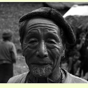 the old man in Kongba village by Sabyasachi Chatterjee - People Portraits of Men ( tawang )