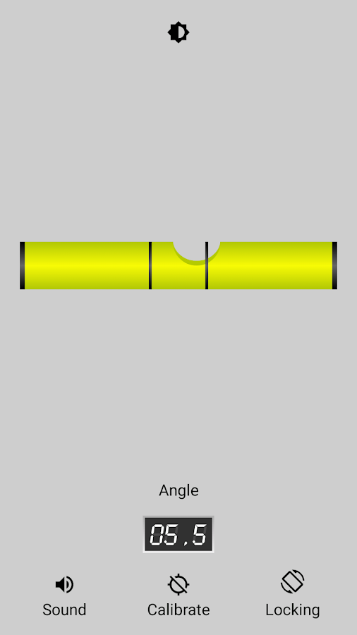 Bubble level (Spirit Level)- screenshot