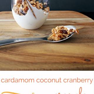 Cardamom Coconut Cranberry Granola