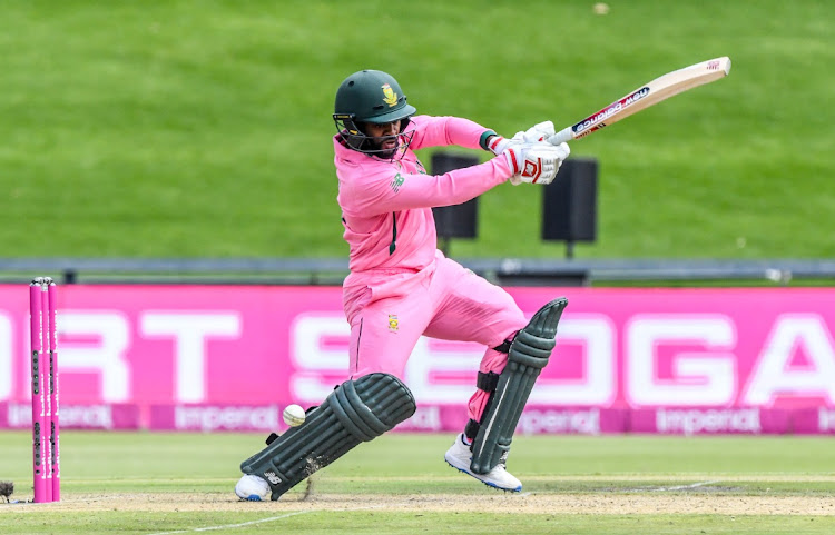 Skipper Temba Bavuma of South Africa during the 2nd ODI match between South Africa and Pakistan at Wanderers Stadium in Johannesburg, April 4 2021. Picture: SYDNEY SESHIBEDI/GALLO IMAGES