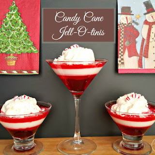 Candy Cane Jell-O-tinis
