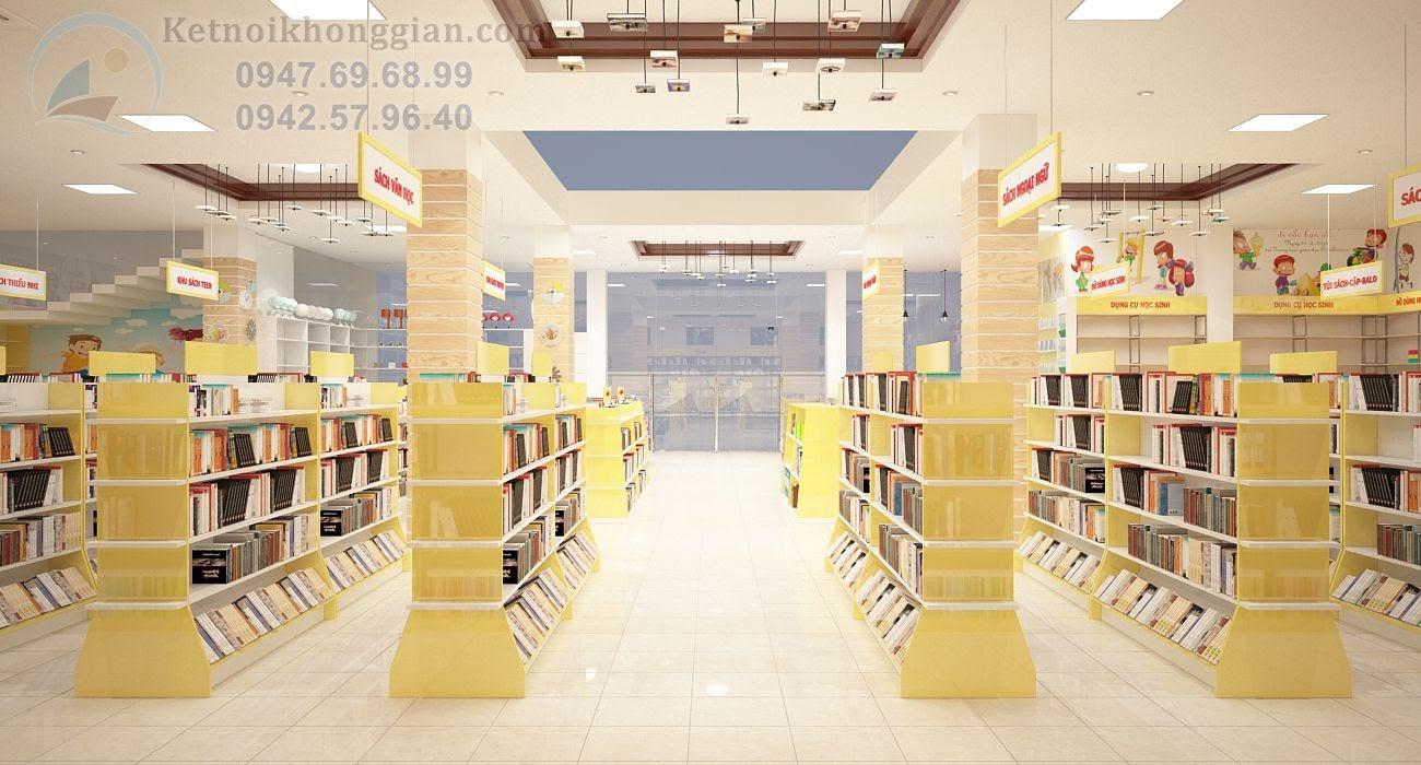 thiết kế nội thất nhà sách sáng tạo