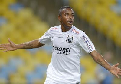 Santos a décidé de rompre le contrat de Robinho