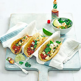 Chipotle Chicken Tacos With Pineapple Salsa.