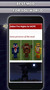 Addon 5 Nights at Fraddy's for Minecraft PE - náhled