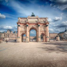Paris by Luca Libralato - Buildings & Architecture Statues & Monuments ( clouds, paris, louvre, france, museum )