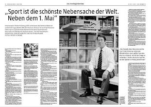 Photo: taz die tageszeitung montagsinterview repro pdf (c) Detlev Schilke/detschilke.de  [ Photographie copyright (c) Detlev Schilke / detschilke.de , Postfach 35 08 02 , 10217 Berlin , Germany , Mobile/Cell.: +49 (0)170 3110119 , Mail: photo@detschilke.de , Bank-Account: P o s t b a n k Berlin , Kto.: 970 880 101 , BLZ: 100 100 10 , IBAN: DE08 1001 0010 0970 8801 01 , BIC: PBNKDEFF , VAT-No./USt.-ID: DE160478504 - 7% USt. , Jegliche Nutzung des Fotos nur gegen Honorar laut MFM, Urhebervermerk und Belegexemplare! Verwendung des Bildes ausserhalb journalistischer Nutzung bedarf besonderer Vereinbarung. Only editorial use, advertising after agreement! Kein schriftliches Modelrelease vorhanden! No Modelrelease! No Property Release! , Details at: www.detschilke.de ]