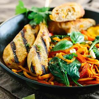 Thai Chicken Curry Sweet Potato Noodle Bowl.
