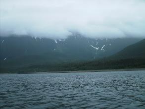 Photo: The Kakuhan Mountains east of Lynn Canal.