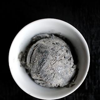 Perfectly Spooky Black Sesame No-Churn Ice Cream
