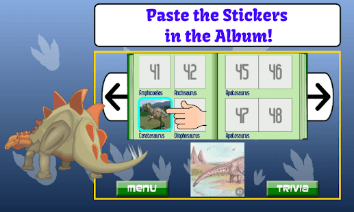 Dinosaur Trivia and Stickers- screenshot thumbnail