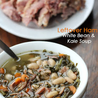 Leftover Ham, White Bean and Kale Soup.
