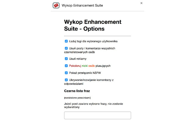 Wykop Enhancement Suite