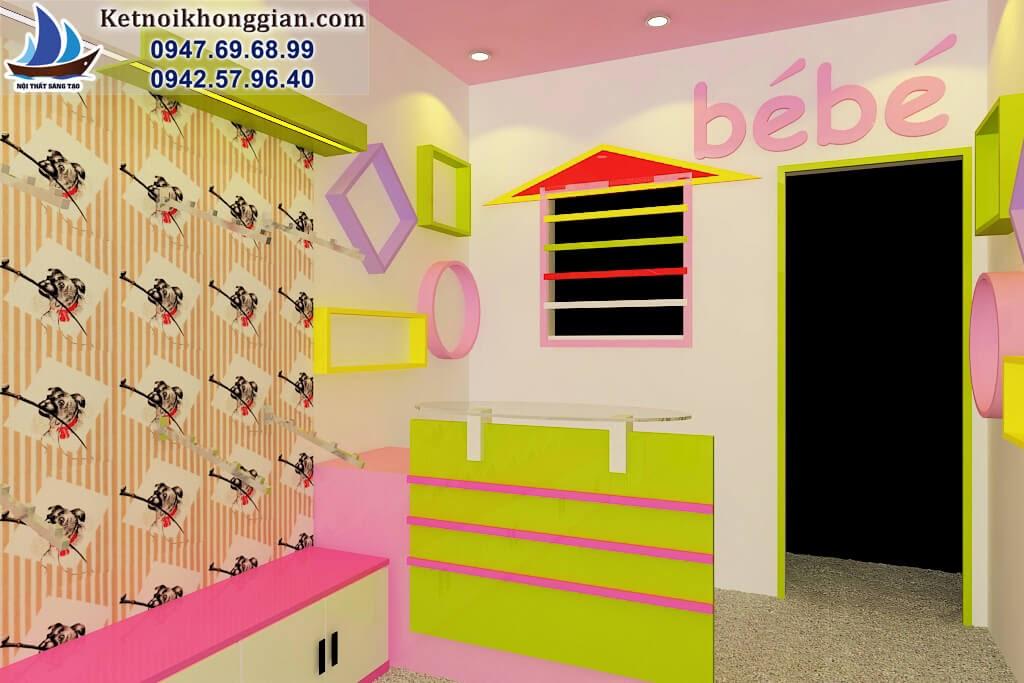 thiết kế cửa hàng quần áo trẻ em chất lượng cao