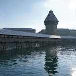 famous Chapel Bridge of Lucerne in Lucerne, Lucerne, Switzerland