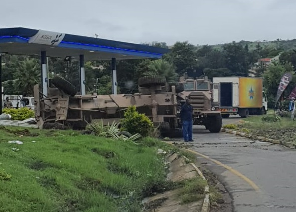 WATCH | Soldier hurt in crash as army Casspir tries to evade taxi in Mthatha - TimesLIVE