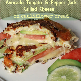 Avocado Tomato and Pepper Jack Grilled Cheese.