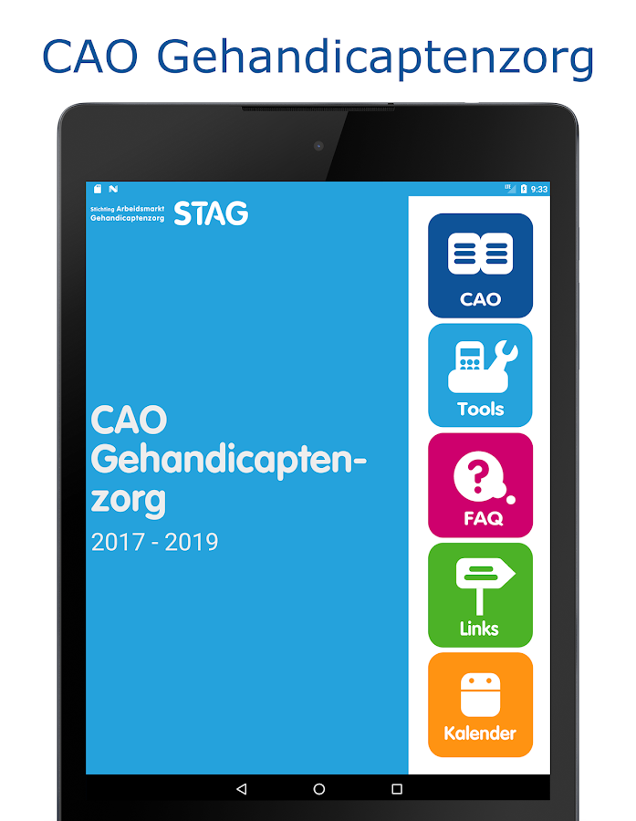 CAO Gehandicaptenzorg- screenshot