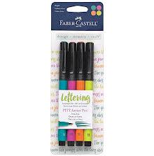 Faber Castell Mix & Match PITT Artist Brush Pens 4/Pkg - Bright