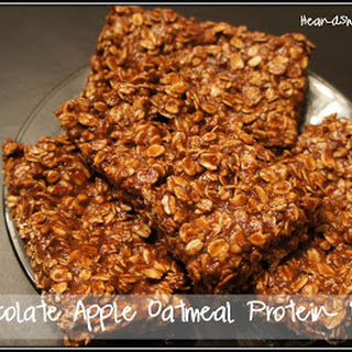 Chocolate Apple Oatmeal Protein Bars.