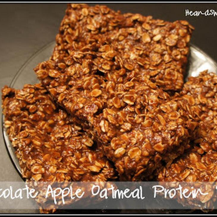 Chocolate Apple Oatmeal Protein Bars