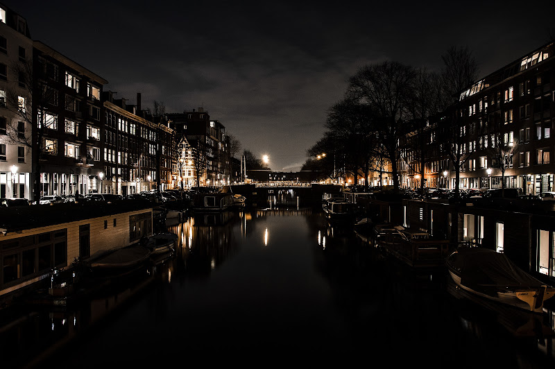Night lights in Amsterdam di -Kyry