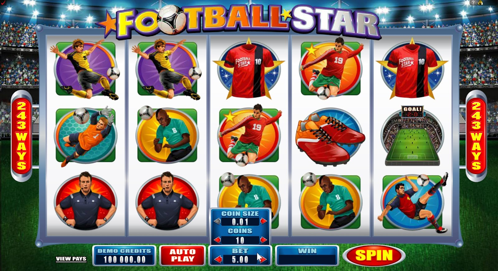 Football Star Slots Game Review