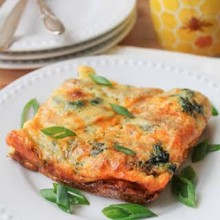 Egg Casserole with Sweet Potato & Spinach – Gluten Free.
