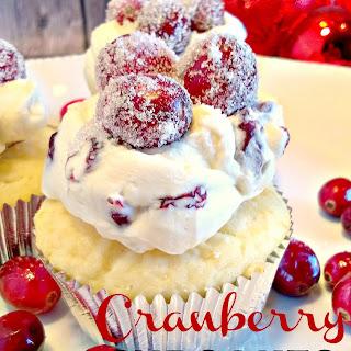 Sweet Cranberry Cupcakes.