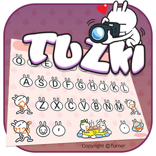 Happy TUZKI Theme&Emoji Keyboard (Authorized)