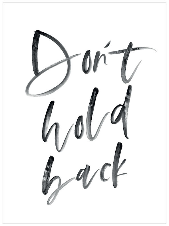 DON'T HOLD BACK CITATPOSTER