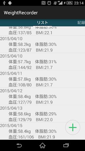 WeightRecorder【体重&血圧管理アプリ!】