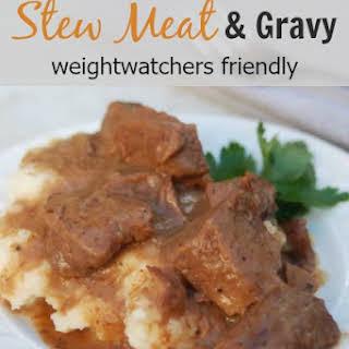 Crock Pot Stew Beef and Gravy.
