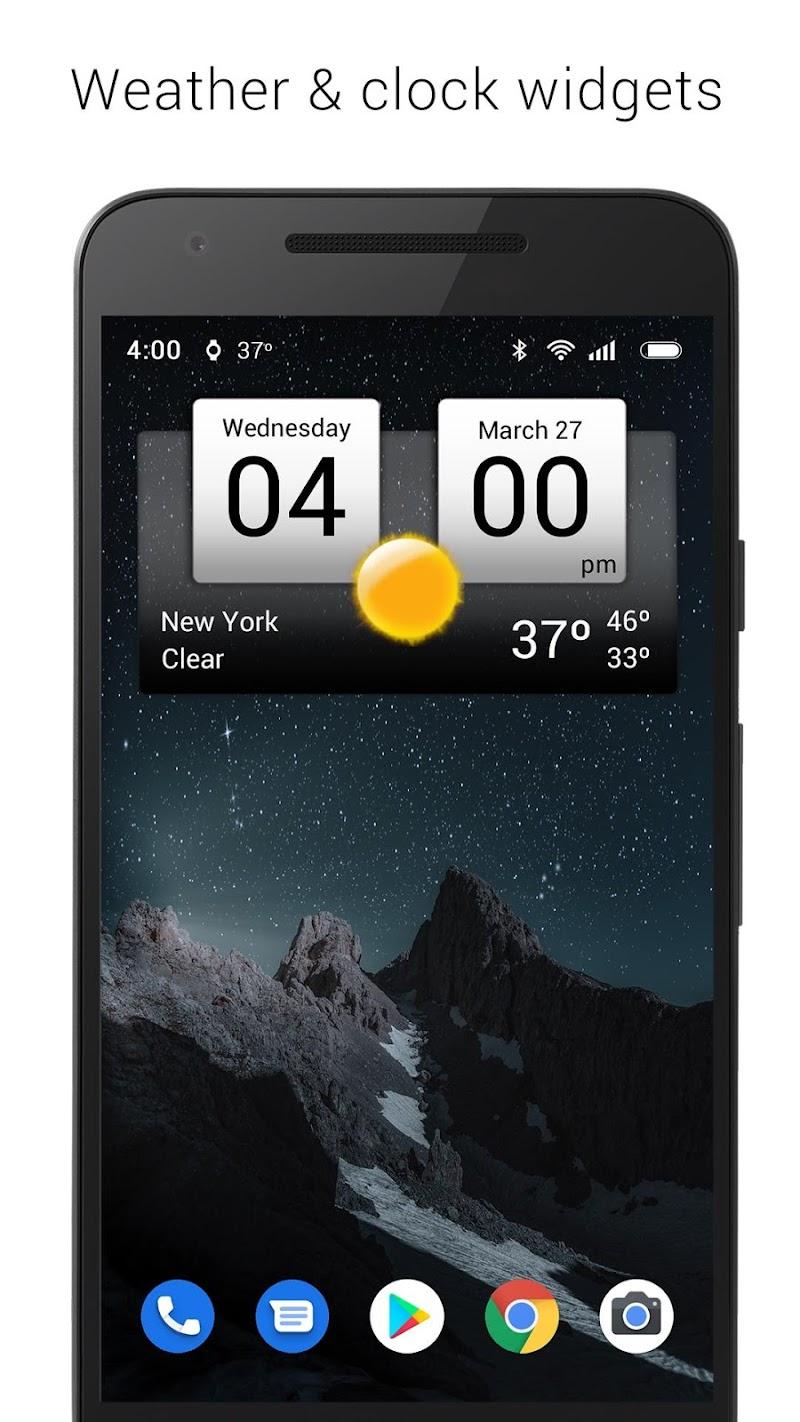 Digital clock & world weather Screenshot 0