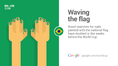 Photo: Forget sleeves. Brazilians are wearing their pride on their hands. #GoogleTrends #WorldCup